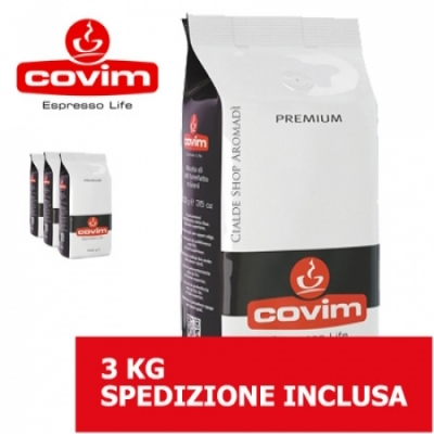 Premium - 3 Kg caffè in grani Covim