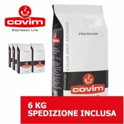 Premium - 6 Kg caffè in grani Covim